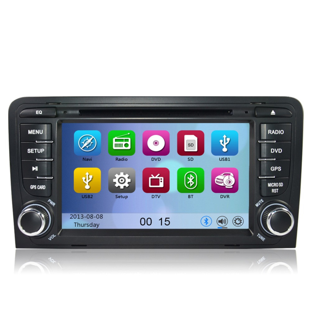 audi a3 s3 stereo gps sat nav radio oem style head unit. Black Bedroom Furniture Sets. Home Design Ideas