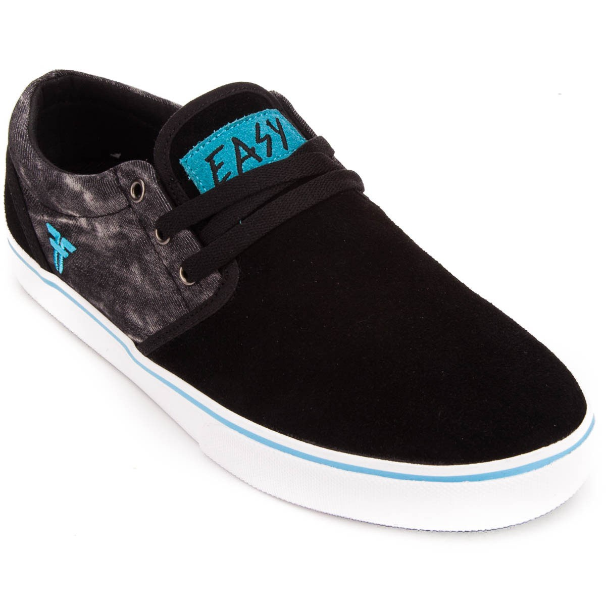 Fallen Shoes The Easy Slash Pro Black Acid Island Blue New Mens Skateboard Sneakers