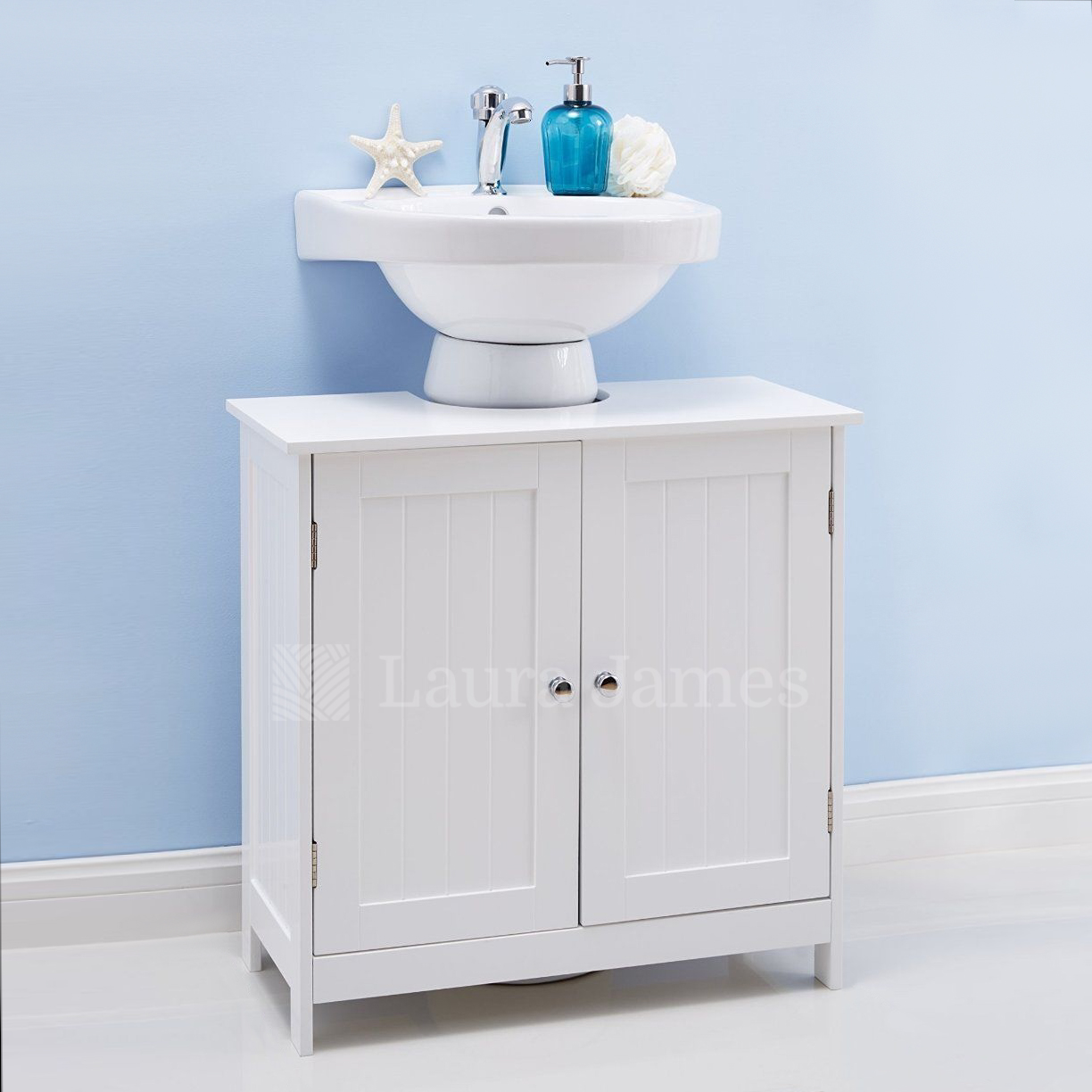 details about under sink bathroom cabinet storage unit cupboard white