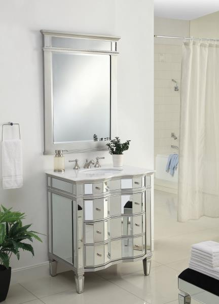 mirrored ashley bathroom sink vanity with matching mirror bwv 025 30