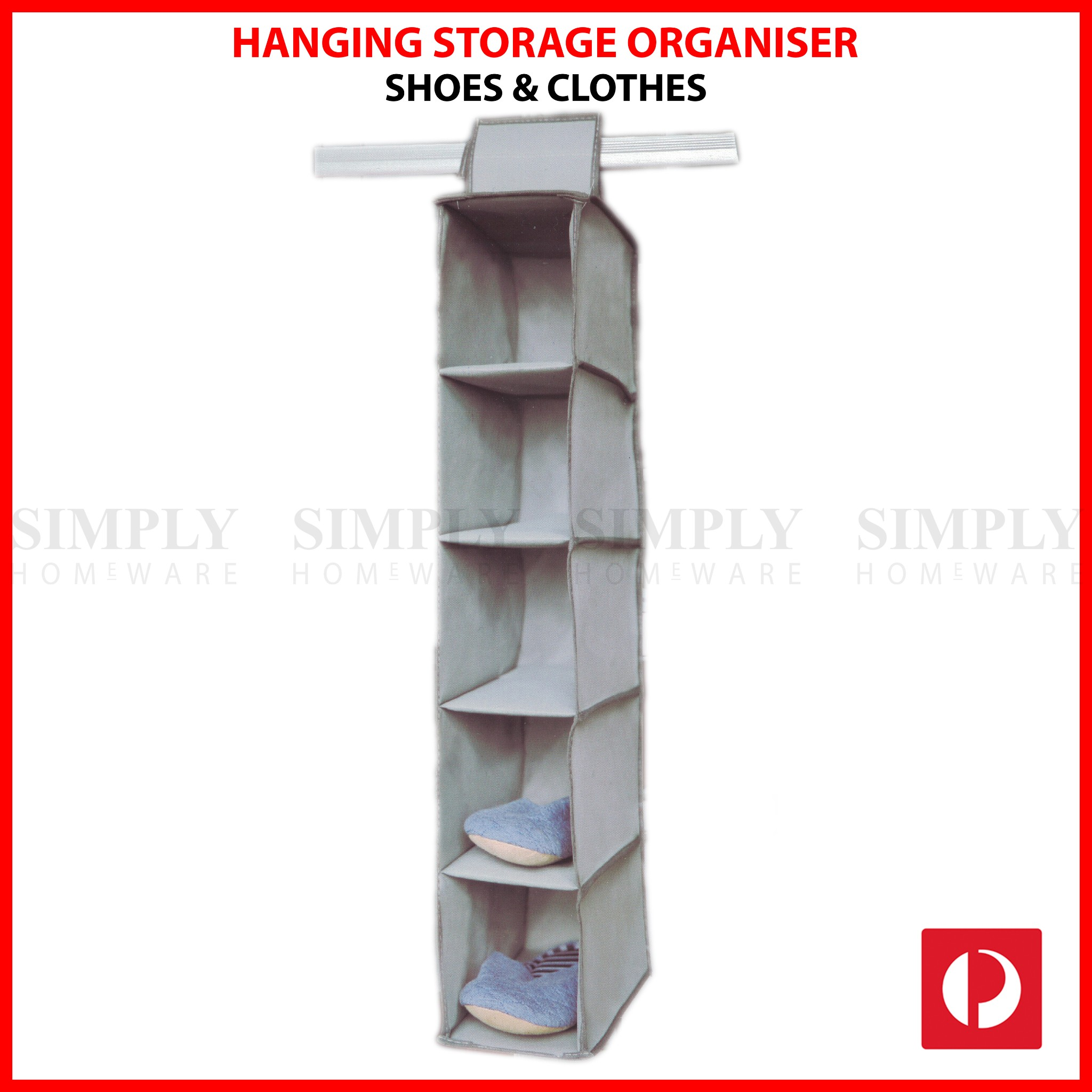 Hanging Shoe Storage Organiser Shelf Cabinet Wardrobe Closet Clothes Hanger
