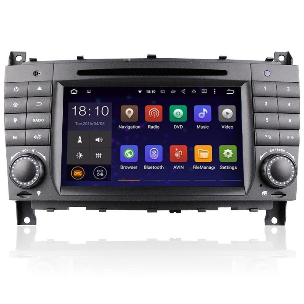 mercedes clk w209 c class w203 android 5 1 head unit wifi. Black Bedroom Furniture Sets. Home Design Ideas