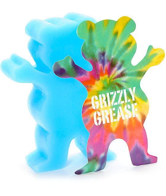 Grizzly Grease Wax Blue Grizzly Grip Skateboard Curb Wax FREE POST
