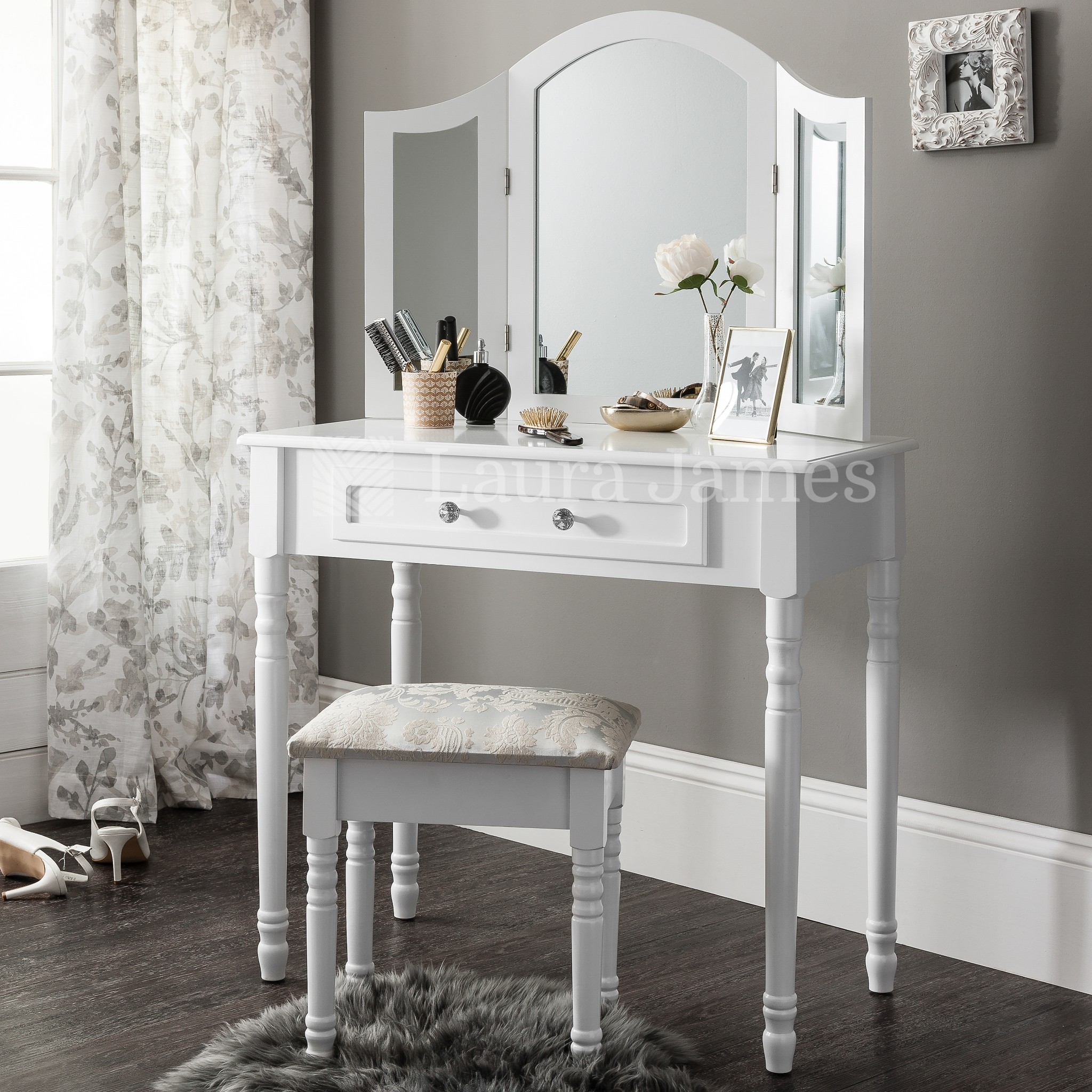 Fabulous Vanity Stool South Africa Sienna White Dressing Table Mirror Dailytribune Chair Design For Home Dailytribuneorg