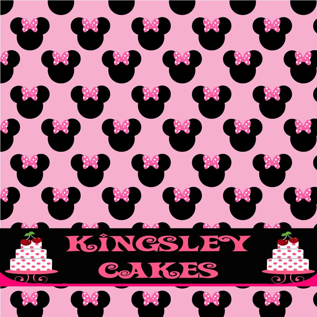 edible icing pink background sheet minnie mouse pattern