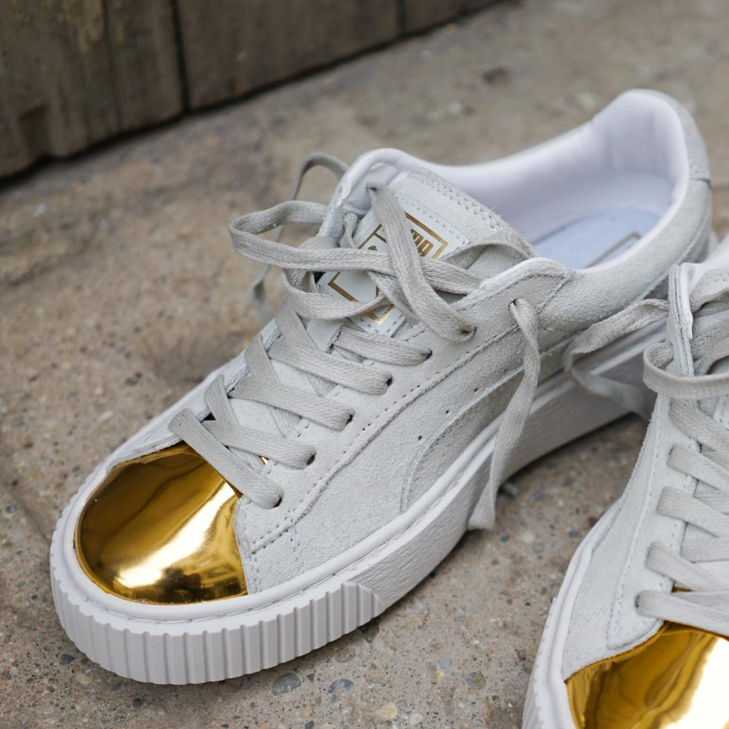 Puma Creepers White Gold