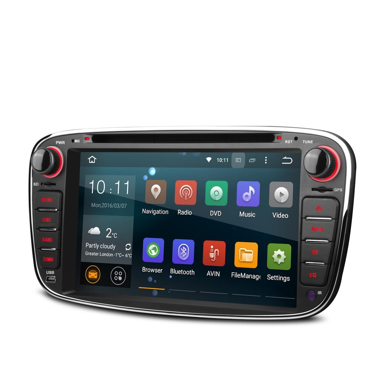 ford mondeo mk4 android 5 1 head unit radio stereo. Black Bedroom Furniture Sets. Home Design Ideas