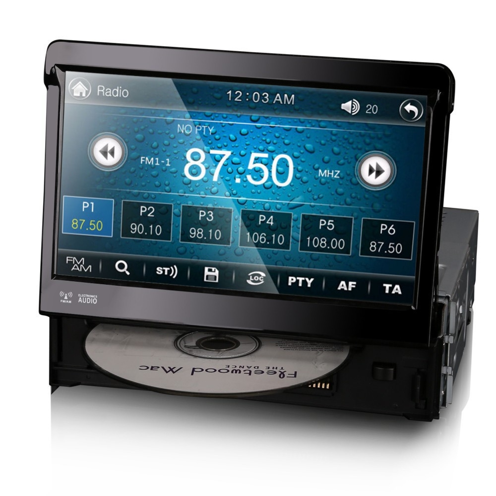 7 single din radio head unit gps satnav bluetooth touch. Black Bedroom Furniture Sets. Home Design Ideas