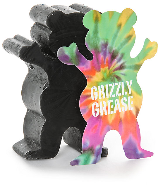 Grizzly Grease Wax Black Grizzly Grip Skateboard Curb Wax FREE POST