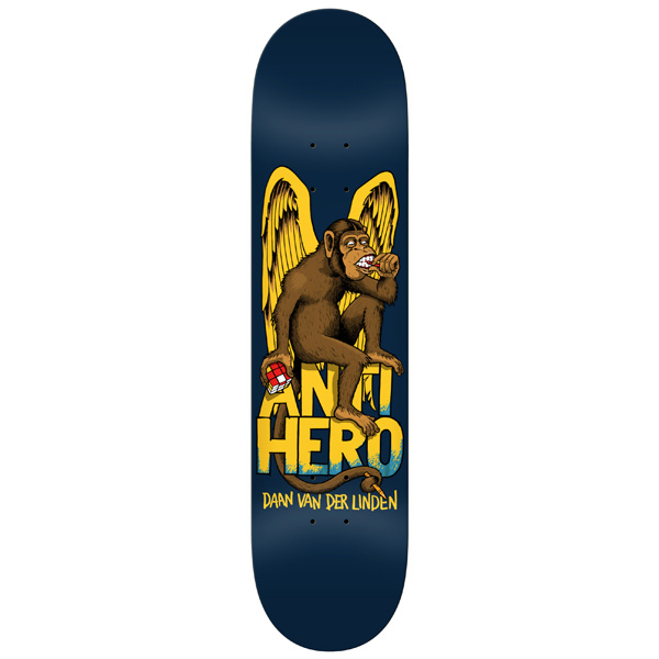 Anti Hero Skateboard Deck The Thinker Daan 8 Van Der Linden Antihero Board FREE POST and Grip