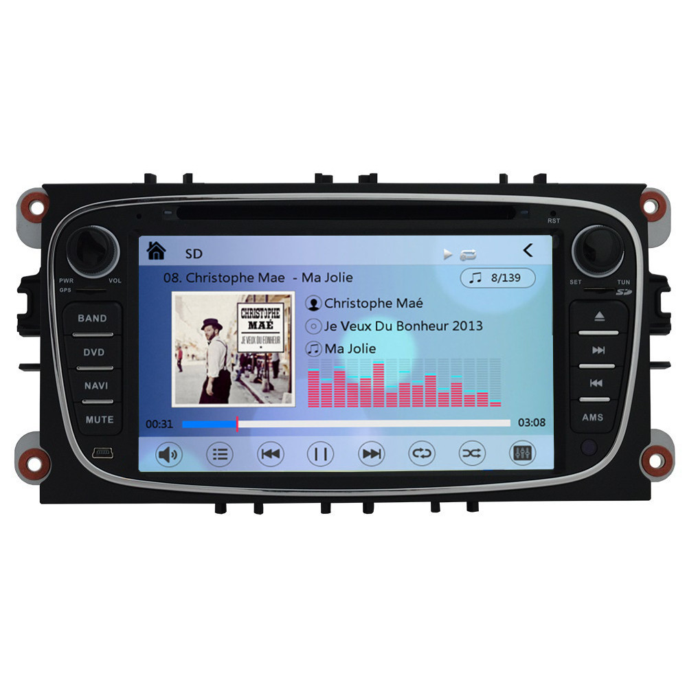 ford focus mk2 direct fit stereo gps sat nav head unit. Black Bedroom Furniture Sets. Home Design Ideas