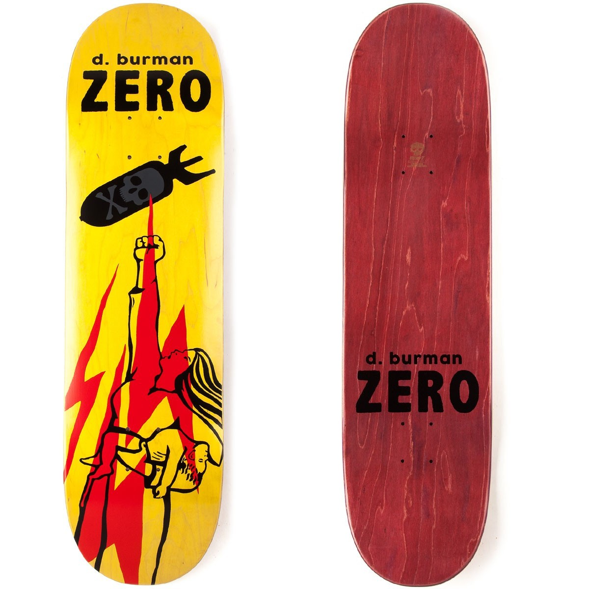Zero Skateboard Deck Dane Burman 8.625 Propaganda R7 FREE POST and GRIP New