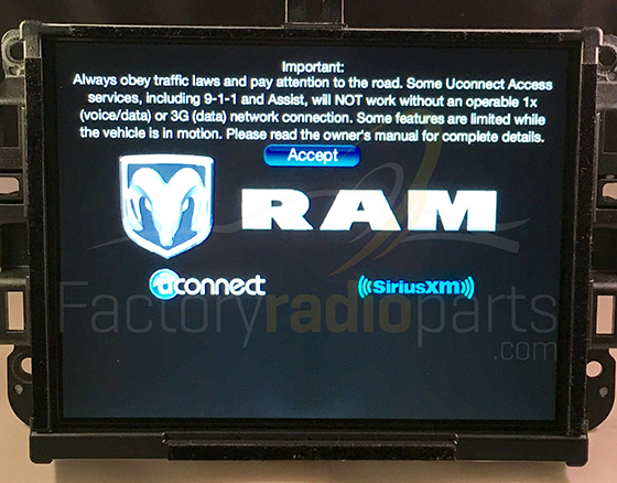 Sell Uconnect 8.4A VP3 RA3 NA Radio Jeep RAM 2013 2014 ...