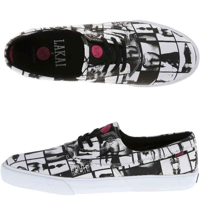 Lakai Shoes x Van Styles Camby Black White Canvas Limited Edition USA SIZE Skateboard Footwear Sneakers