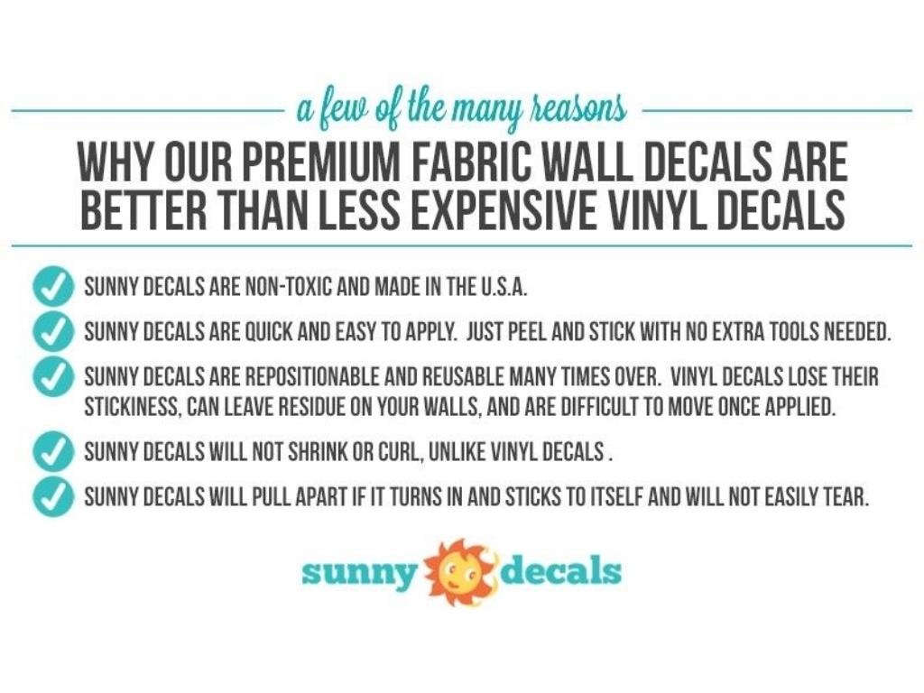 Rainbow Fabric Wall Decal Rainbow Wall Sticker With Stars And - How to make vinyl wall decals stick better