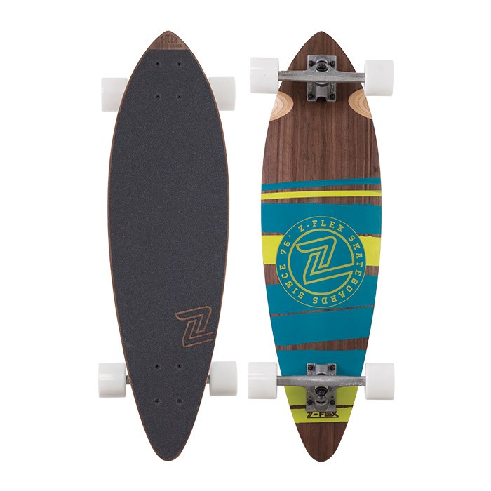 Z-Flex Skateboard Complete Mini Pintail Green 32 Longboard Zflex FREE POST