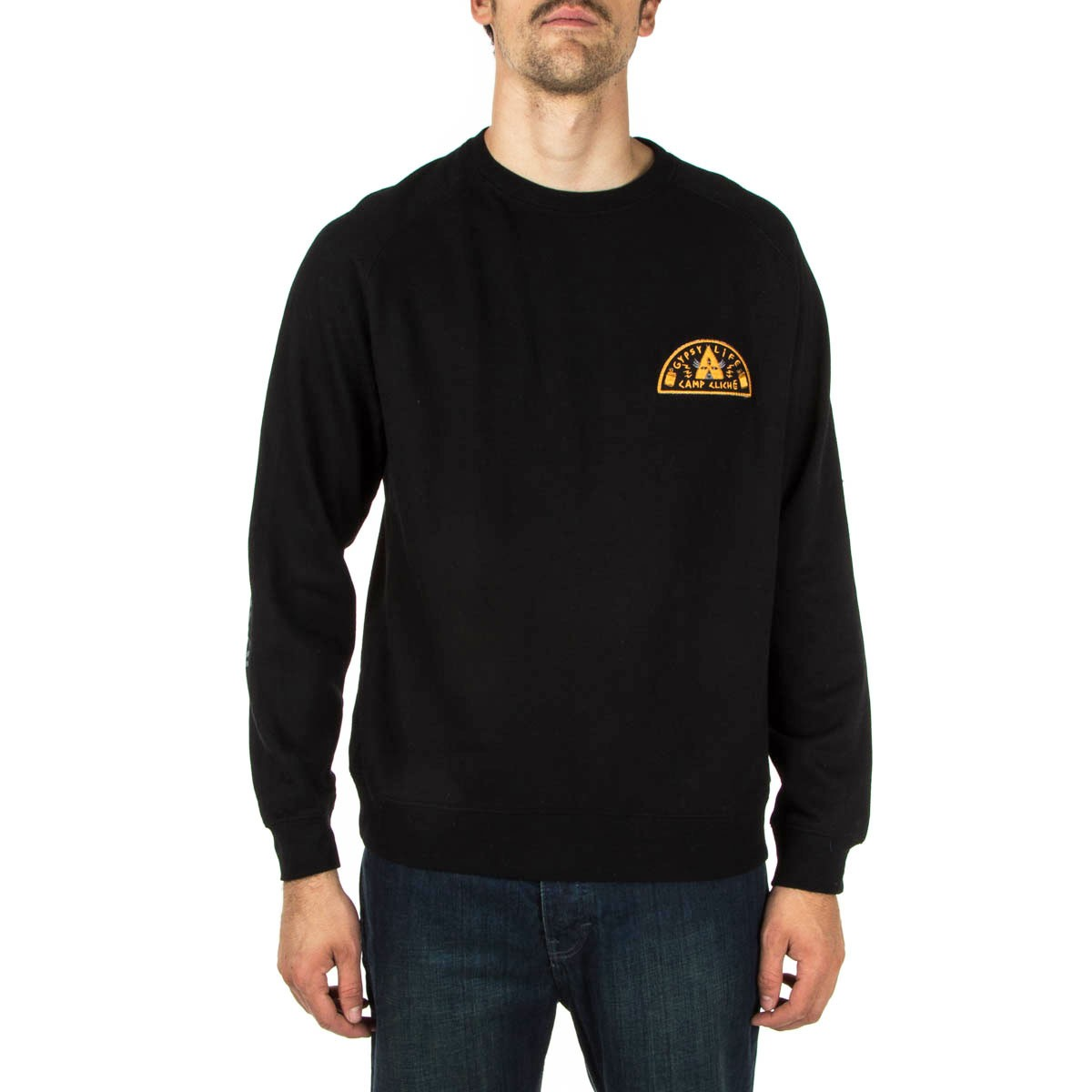 Cliche Crew Gypsy Life Patch Black FREE POST New Skateboard Sweatshirt Jumper