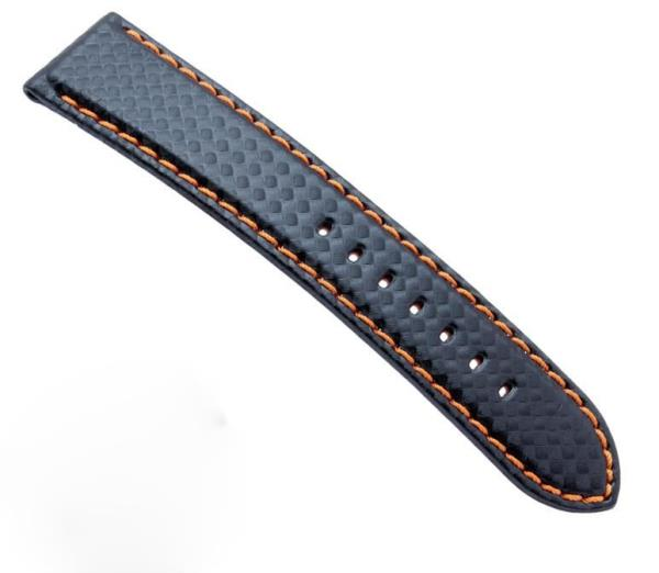b78103265 Mens Watch Band Carbon Fibre Watch Strap with Red Stitched + Leather Lining  Stai. Item Type: Watchbands Clasp Type: stainless steel. Model Number: ZLTQ