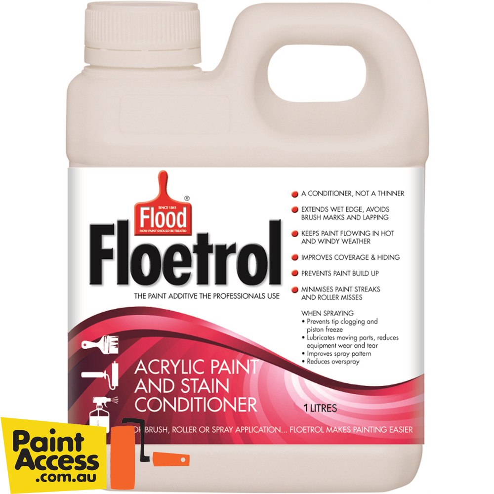 Flood Floetrol Acrylic Paint Conditioner 1 Liter Makes Paint Flow