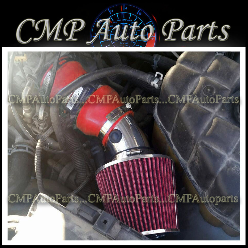 BLACK RED 2004-2005 CADILLAC DEVILLE ALL MODELS WITH 4.6 4.6L V8 AIR INTAKE KIT