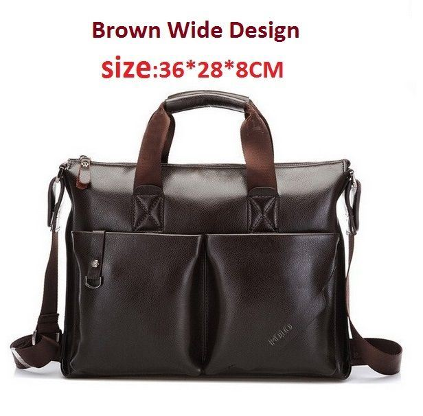 f2f37cd23ed Details about POLO VIDENG Men s Business Leather Shoulder Briefcase  Messenger Laptop Bag
