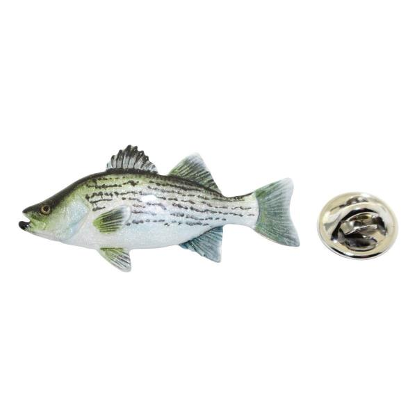 Striped Bass Tie Tack ~ Antiqued Pewter ~ Tie Tack or Pin ~ Sarahs Treats /& Treasures