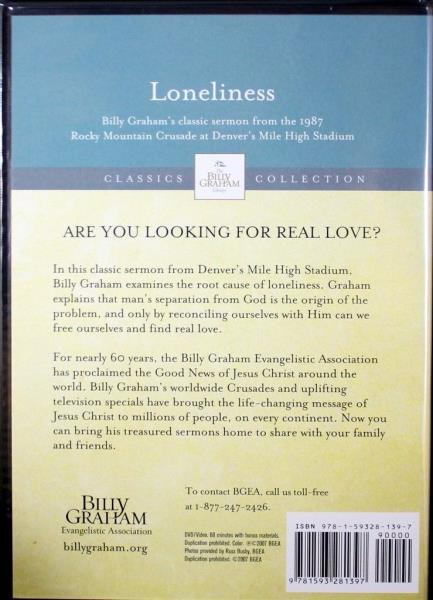 Details about Loneliness Billy Graham Library NEW Christian DVD 1987 Rocky  Mountain Crusade