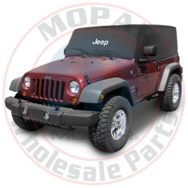 JEEP WRANGLER Black Water Resistent Nylon Cab Cover With Jeep Logo NEW OEM MOPAR