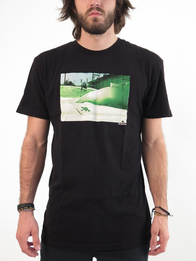 Emerica Tee Reynolds Frontside Flip Black Free Post New Mens Skateboard T-Shirt kingpin skate supply