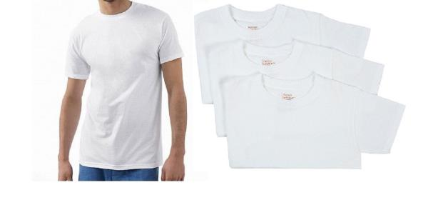 a5892c16 Big Men's Crew-neck Tee Shirt 3-Pack Hanes Ultimate Comfort Soft Fresh IQ  White