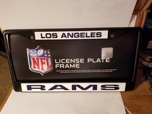 Los Angeles Rams NFL Rico Industries  Easy View Chrome License Plate Frame