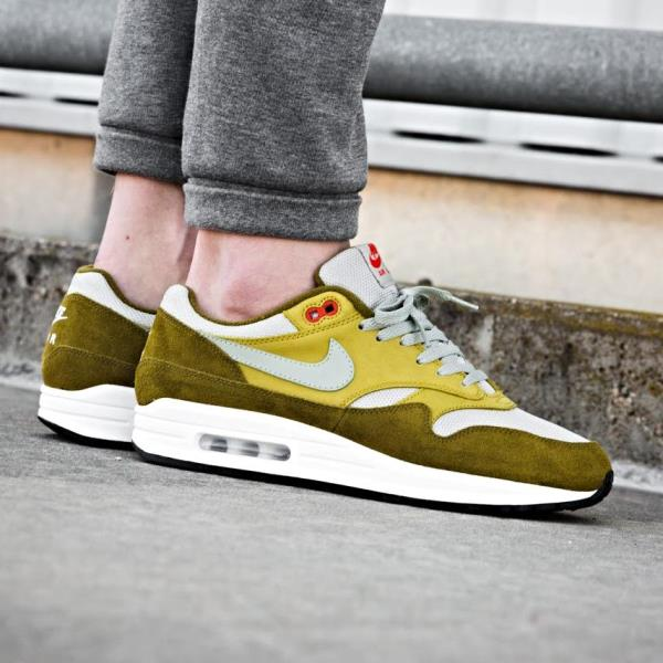 best cheap 77fd8 e6a90 Details about Nike Air Max 1 Premium Retro Sneakers Green Curry Size 7 8 9  10 11 12 Mens Shoes