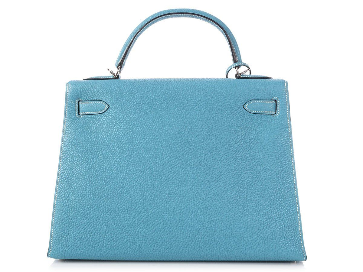 8ca20faceda7 HERMES 2006 Blue Jean Togo Kelly 32 Bag Purse ~ Sporty sophistication!