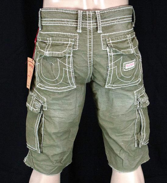 167ff96b0 True Religion Jeans ANTHONY cut off corduroy shorts old sage green ...