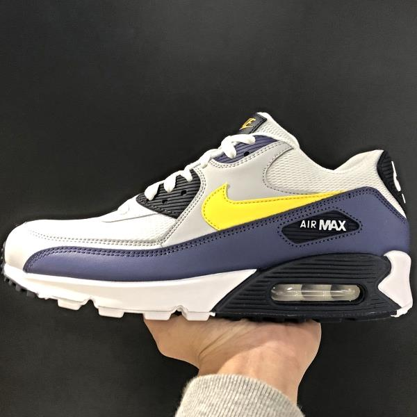 sports shoes d86a7 46b1f Details about Nike Air Max 90 essential White Yellow Blue Size US 7- 13 men  sneakers 2018 off