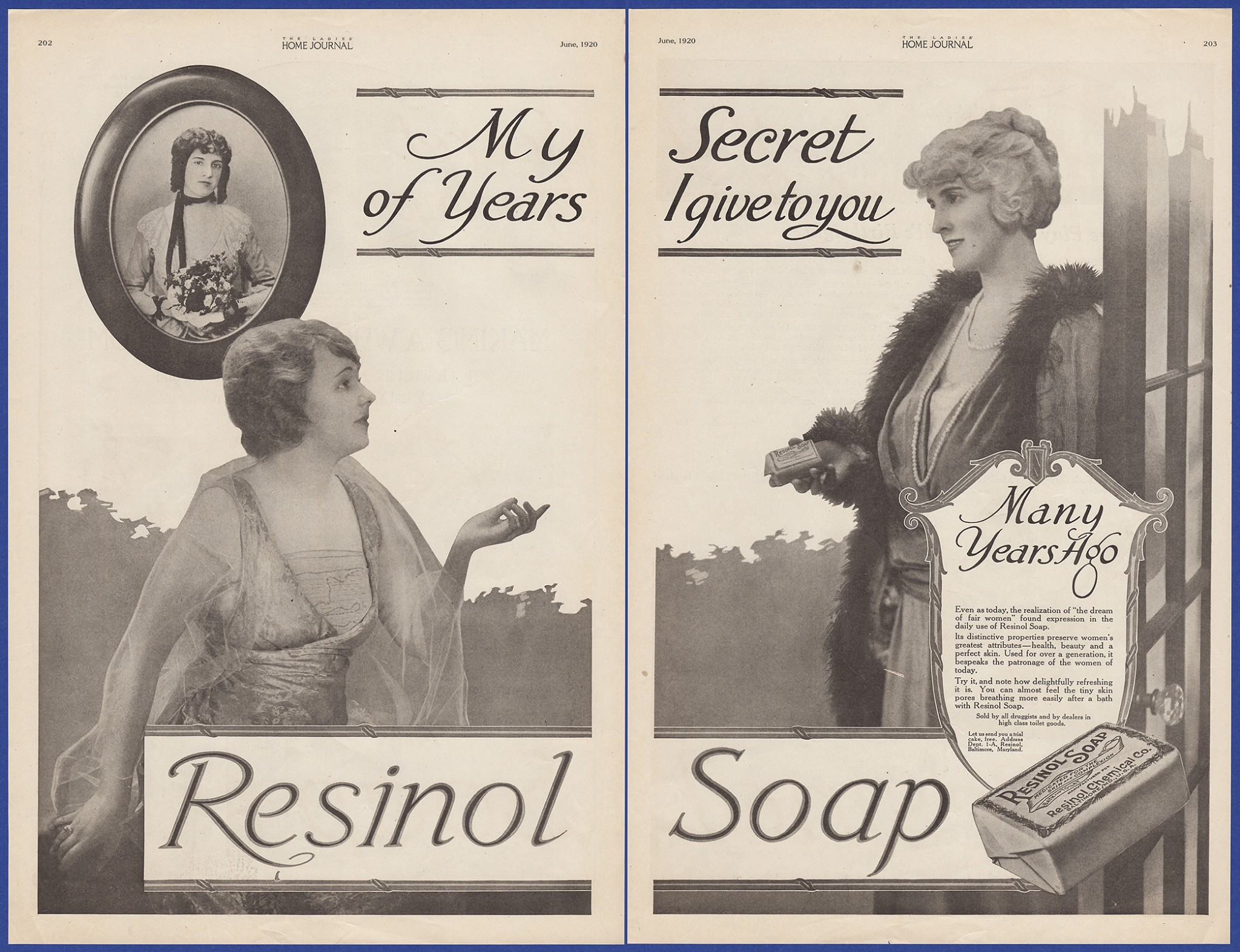 Details about Vintage 1920 RESINOL Soap Bathroom Art Decor Ephemera Print  Ad 1920's