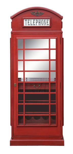 Drinks Cabinet Iconic Bt Telephone Box Style Bar In Pillar Box Red
