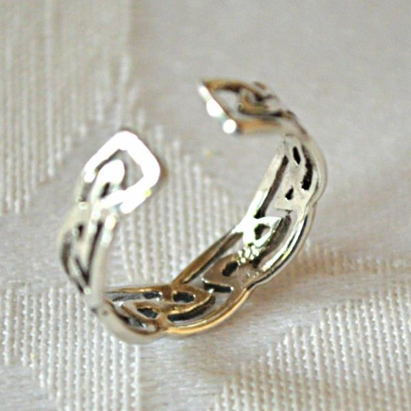 Jewelry & Watches Metaphysical Sterling Silver Celtic Knot Design Adjustable Toe Ring~wicca~pagan~jewellery #1