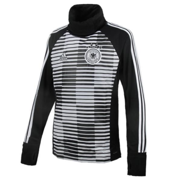 Details about Adidas Men DFB Germany Warm Training LS T Shirts Soccer Black Tee Jersey CE6633