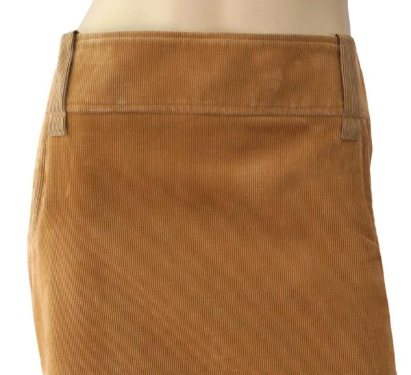 0b2797ac2 GIANFRANCO FERRE Tan Cotton Corduroy Pencil Skirt Pleat Back 6 New With Tags.  GF FERRE TAN CORDUROY 'GONNA' SKIRT