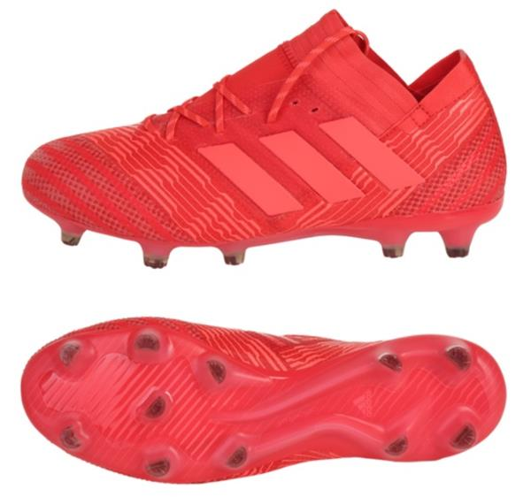 Adidas Men Nemeziz 17.1 FG Cleats Soccer Red Football Futsal Shoes ... 75374deda1