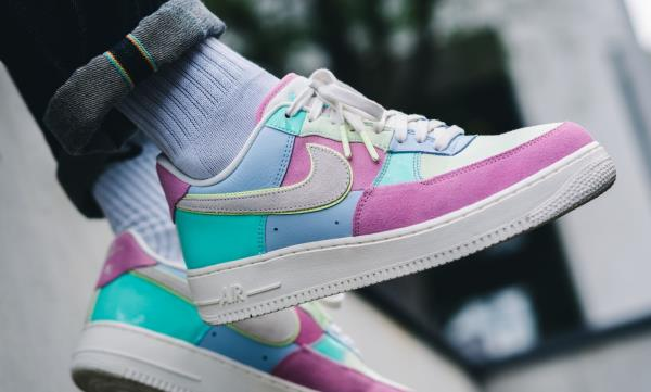 940f0c332916 Nike Air Force 1  07 QS Easter Pack Sneakers 18 Ice Blue Size 8 9 10 11 12  Mens. 100% AUTHENTIC OR MONEY BACK GUARANTEED