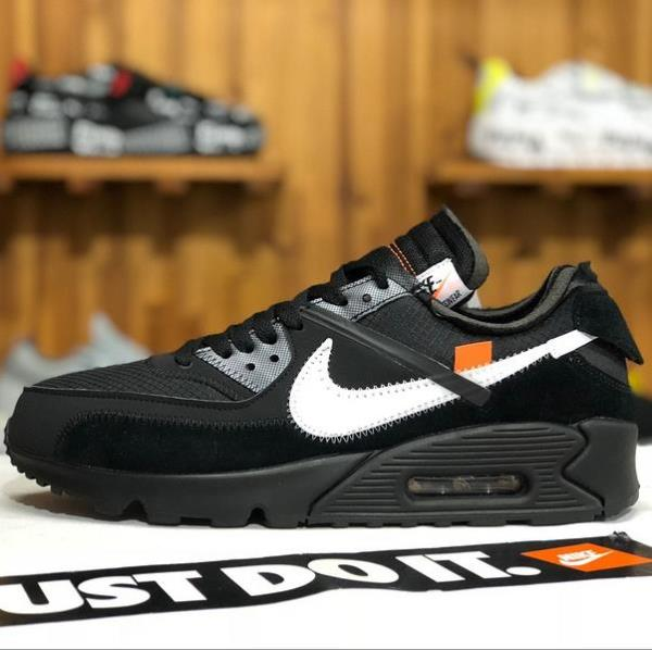 promo code 9f0ed 46d14 Details about Off-White x Air Max 90 Black Size 8 9 10 11 12 Mens Shoes  AA7293-001