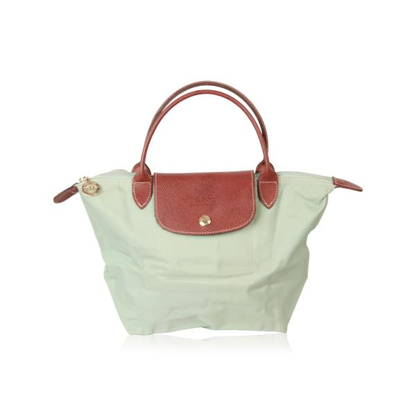 8cd1429cef Details about Authentic LONGCHAMP PARIS Mint Canvas Green LE PLIAGE BAG Top  Handles S