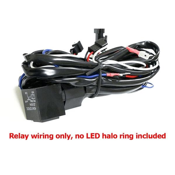 Angel eye halo rings ledccfl relay harness w fade in fade out for ccfl angel eyes you will also need ccfl converters separately asfbconference2016 Choice Image