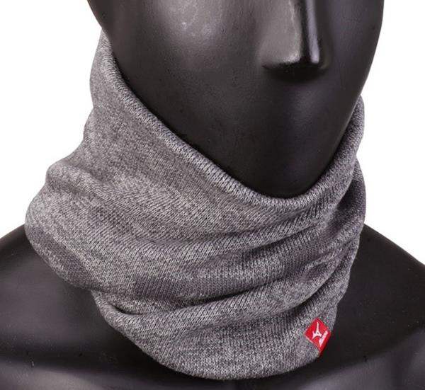 Details about Mizuno Morelia Breath Thermo Neck Warmer Running Gray Face Mask Scarf P2MY750108