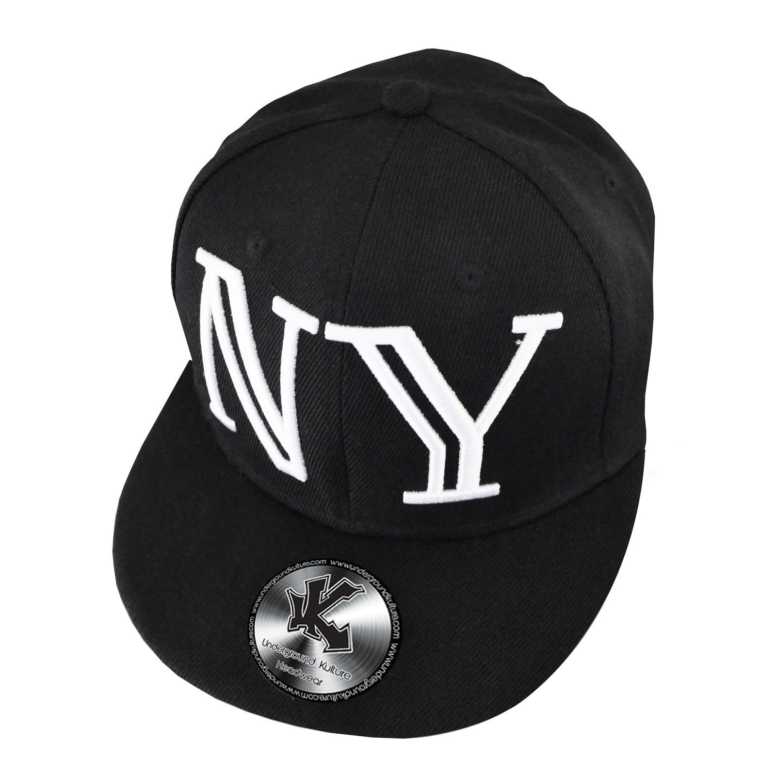 19b08cb2136 Details about New Underground Kulture - NY Type Flat Peak Snapback Baseball  Cap - Adjustable