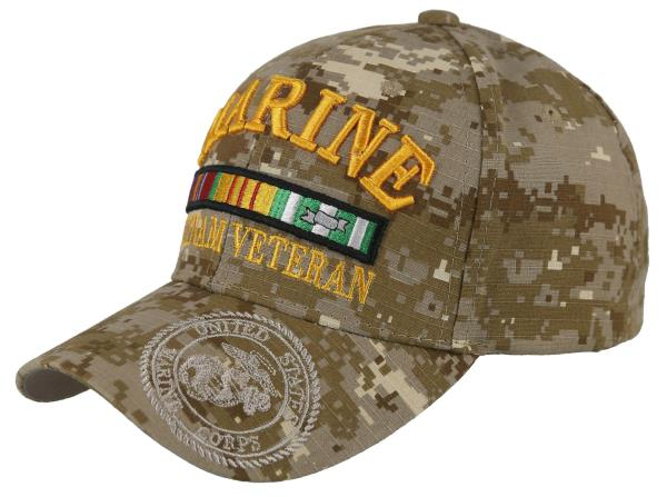 a50766f98 Details about NEW! US MARINE VIETNAM VETERAN SHADOW USMC BASEBALL CAP HAT  DESERT CAMO