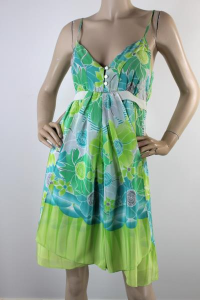 Wish Green Silk Sundress 10 Ebay