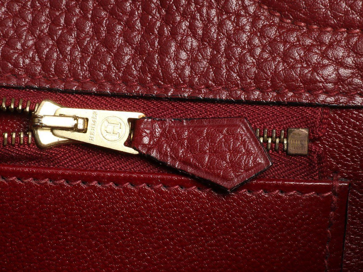 6ee5632ba65 HERMES Rouge Kelly 40 Bag Purse ~ Big and slouchy in red Fjord leather!